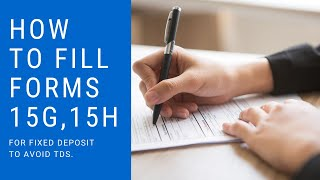 HOW TO FILL FORMS 15G, 15H OF CENTRAL BANK OF INDIA    SAVE TDS ON INTEREST INCOME.
