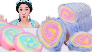Jasmine Princess Cotton Candy 자스민의 구름 솜사탕 Mukbang JiniYum 지니얌 먹방