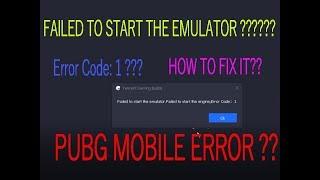 How to Repair PUBG mobile Emulator Error 1 Screen   fix digital