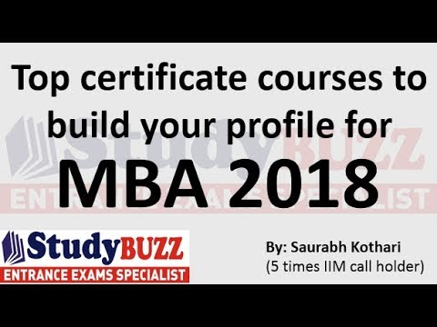 Top short term certificate courses to build your profile for MBA ...