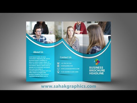 tri fold brochure graphic design tutorial by sahak graphics