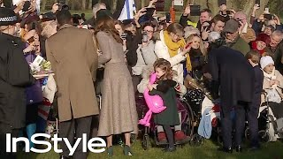 Prince George & Princess Charlotte Steal the Show As Royals Leave Church   British Royals   InStyle