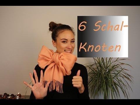 Schal binden - 6 verschiedene Varianten - Schalknoten