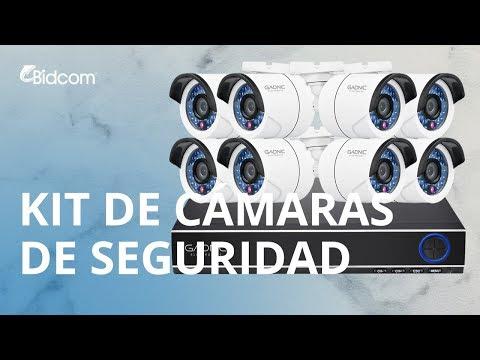 Kit 8 Cámaras de seguridad Gadnic IP Vision Nocturna + 1TB KP2P0031X