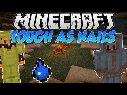 Minecraft | TOUGH AS NAILS (DIFFICULTY MOD, THIRST & MORE!!) | Mod Showcase