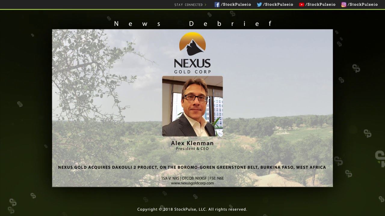 Nexus Gold Acquires Dakouli 2 Project, on the Boromo-Goren Greenstone Belt, Burkina Faso, West Afric