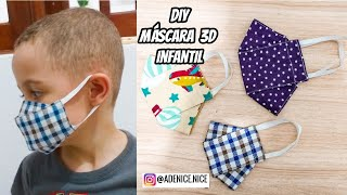 DIY MÁSCARA DE TECIDO 3D  + MOLDE BEM FÁCIL MASKS KIDS
