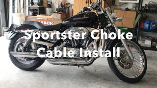 How To Harley Davidson Sportster Choke Cable Repair Or Replace.
