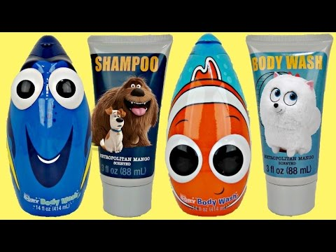 Finding Dory & Secret Life of Pets Soap Scrub & Bath Tub Sets
