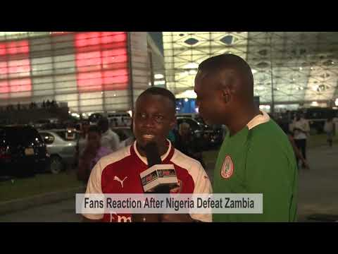 VIDEO: Fans React  After Nigeria Beat  Zambia To 2018 World Cup Ticket (Prt 1)