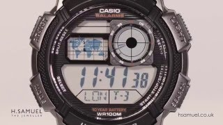 Casio Men's Black Resin Work Time Digital Watch AE-1000W-1BVEF – Features & Demo