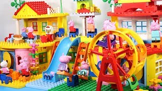 Peppa Pig Lego House With Water Slide Toys - Lego House Creations Toys For Kids #6