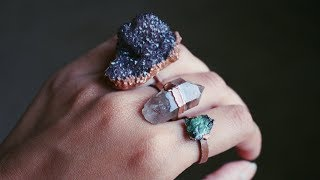 How To Copper Electroform A Crystal Ring At Home