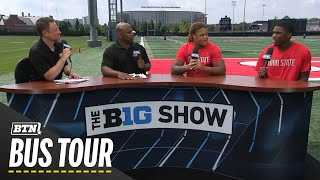 Chase Young and Jeffrey Okudah Talk Fall Camp | 2019 BTN Bus Tour | B1G Football