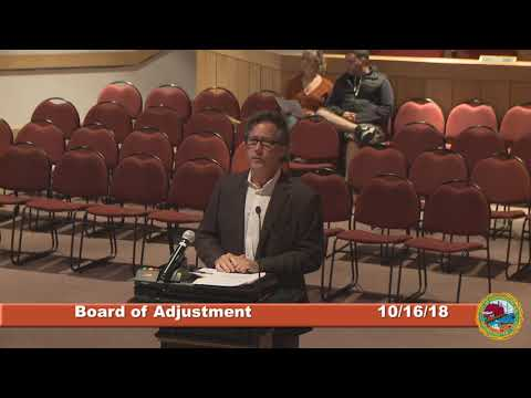 Board of Adjustment 10.16.2018