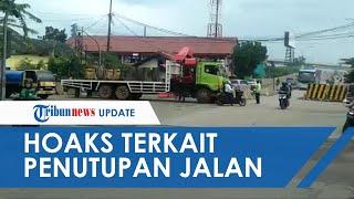 Viral Video Penutupan Jalan di Rawa Bokor Tangerang Terkait Covid-19, Ternyata Hoaks