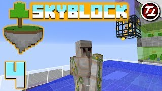 Minecraft SkyBlock #4 - Nether Trip and Iron Golems!
