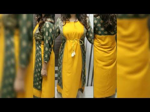 Download Trendy Long Jacket Style Kurti Design 2019 Stylish Long