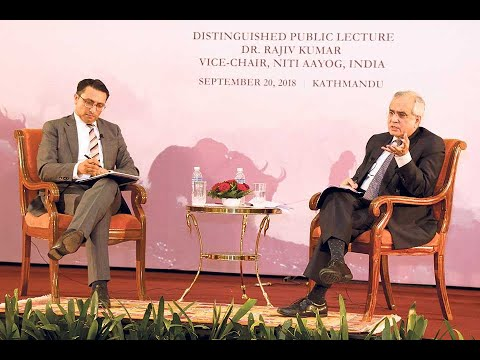 Hosting a Public Lecture by Dr. Rajiv Kumar, Vice-Chair of NITI, India