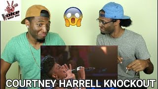 """The Voice 2016 Knockout - Courtney Harrell: """"River Deep, Mountain High"""" (REACTION)"""