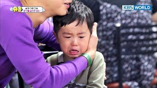 """""""Please save the eel T.T""""...Seungjae cries his eyes out. [The Return of Superman / 2017.10.22]"""