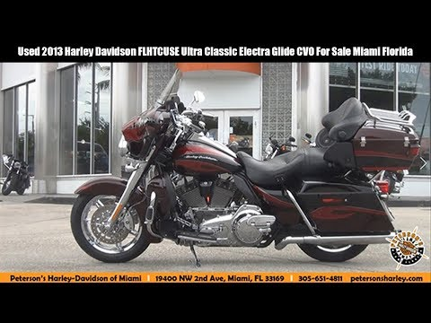Used 2013 Harley Davidson FLHTCUSE Ultra Classic Electra Glide CVO For Sale Miami Florida