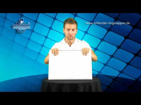 Präsentations-Standardaufsteller A3 quer, Magnet verschluß Farbe weiß ohne Druck