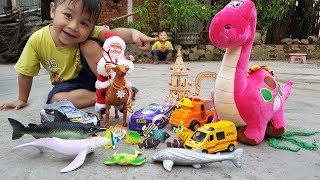 Trò Chơi Ông Già Noel Đi Săn Xe Và Con Cá ❤ ChiChi ToysReview TV ❤ Đồ Chơi Trẻ Em
