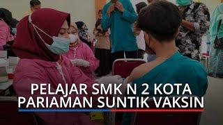 Vaksinasi Massal Digelar di SMKN 2 Kota Pariaman, Sasar 594 Pelajar