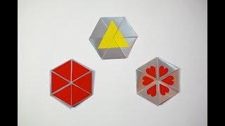 How to make a paper Hexaflexagon? (for a Focus Tricks)