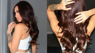 ALL ABOUT MY HAIR! HAIR COLOR, TAPE-IN EXTENSIONS, ETC | GLAM SEAMLESS