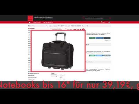 Schnäppchen des Tages 11.05.18 - AmazonBasics Laptop-Rollkoffer/Trolley für Notebooks bis 16