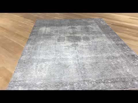 Handgefertigte echte Vintage Teppiche grau 19120