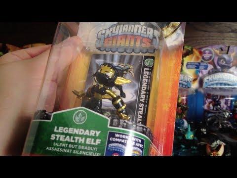 CoinOpTV - Legendary STEALTH ELF Figure Skylanders Giants