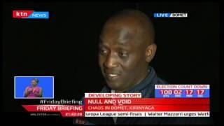 Bomet Bomet Gubernatorial Aspirant Julius Kones blames Raphael Tuju and team for the shambolic nomin