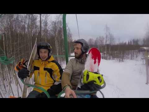 Видео: Видео горнолыжного курорта Красное Озеро в Ленинградская область