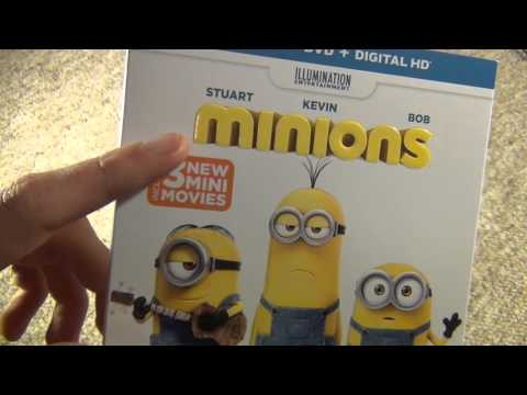 Minions Blu-Ray Unboxing
