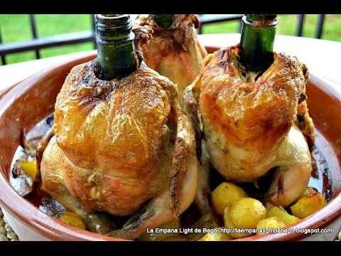 Pollo sentado al Cava/Champagne. Receta Fácil de Pollo Al Horno