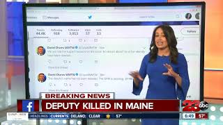 Deputy shot and killed in Maine
