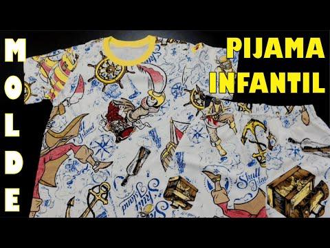 Molde de pijama infantil