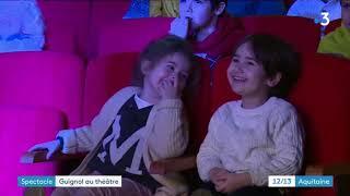 Guignol dans un vrai théâtre du centre de Bordeaux France 3, 4 jan 2019