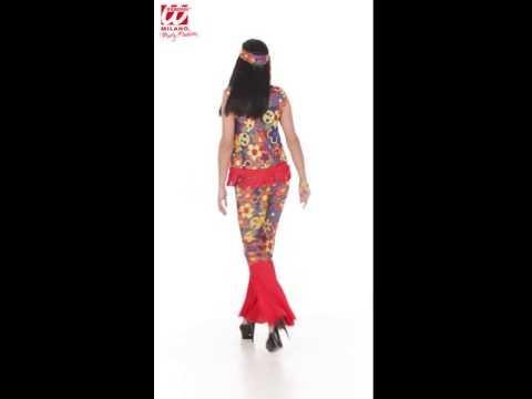 Hippes 70er Jahre Kostüm für Damen