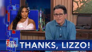 Thanks Lizzo! Now Stephen Can Finally Tell His Chris Evans' Penis Jokes