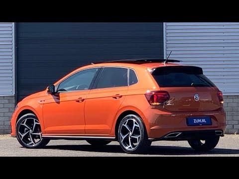Volkswagen NEW Polo R-line in 4K 2020 Energic Orange 17 inch Bonneville walk around & detail inside