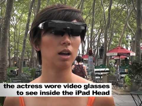 How Did They Get All Those iPads On iPad Head Girl's Head?