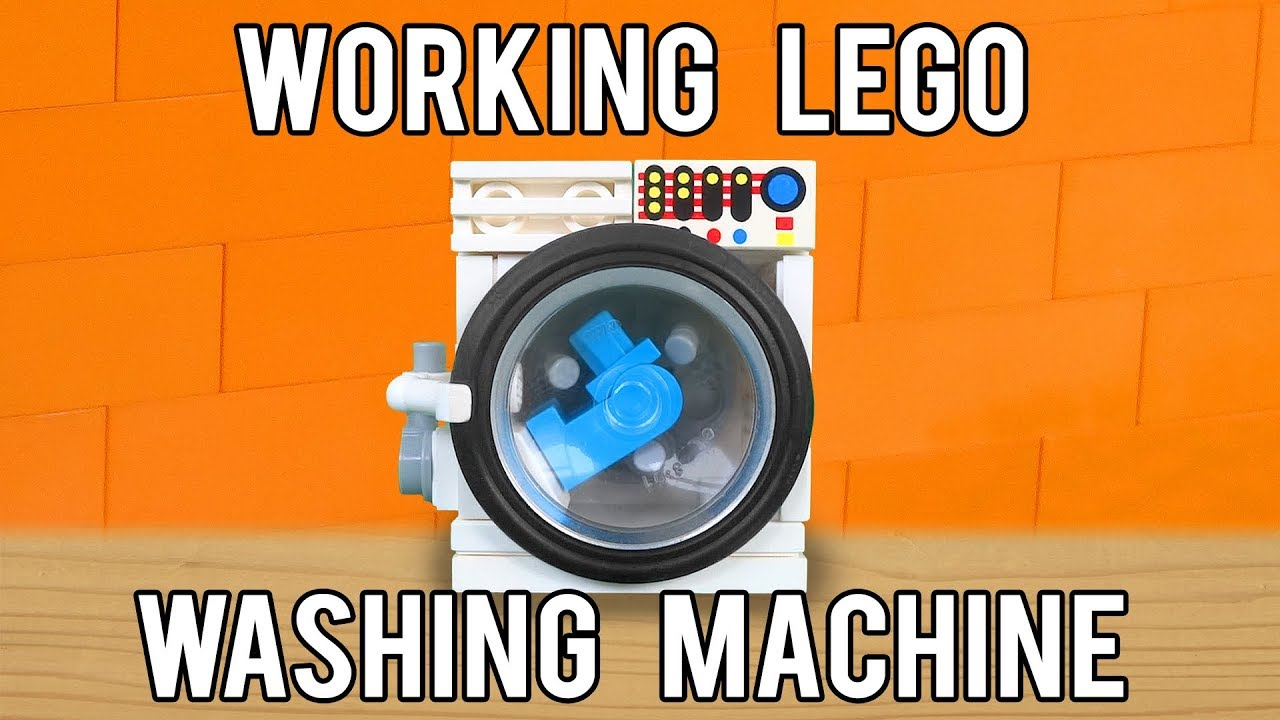 How To Build A Working Lego Washing Machine