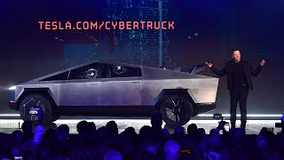 video: Tesla launch of Cybertruck descends into farce as 'bulletproof' windows smash during demo