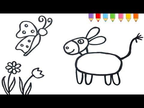 Eşek çizimi Resim Nasil çizilir смотреть онлайн на Hahlife
