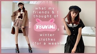Wearing Korean & Japanese Winter Fashion For A Week || YouVimi Review