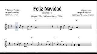 I Wanna Wish You a Merry Christmas Sheet Music for Alto Sax Horn and Baritone Sax Feliz Navidad